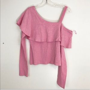 Anthropologie Postmark One Shoulder Ruffle Top (A8